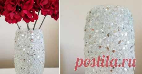 Превращение простой стеклянной вазы в дизайнерскую ...