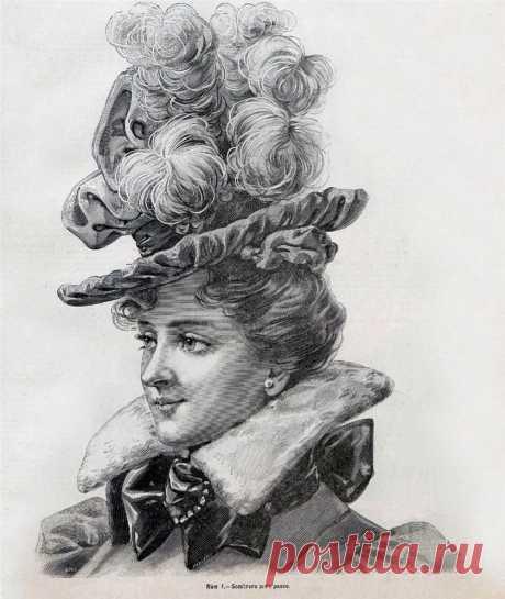 Странички модного журнала... Шляпки.1888-1897. .