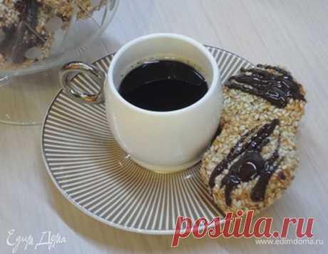 Кунжутно-кокосовое печенье с финиками, пошаговый рецепт, фото, ингредиенты - Галина
