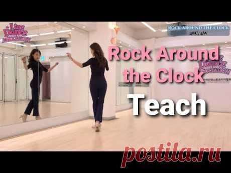 ROCK AROUND THE CLOCK Line Dance (Beginner)  Tutorial  l락어라운드더클락 라인댄스 I Linedance