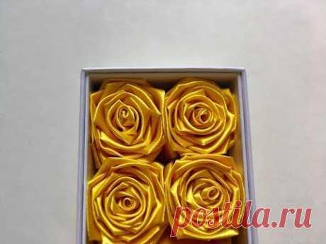 Cách làm hoa hồng bằng ruy băng / Kiểu 2