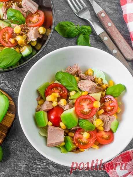 Рецепт салата с тунцом и авокадо