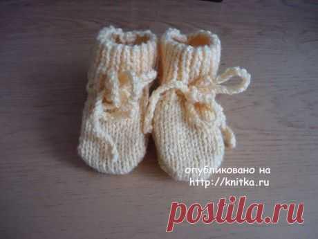 Желтые пинетки – носочки