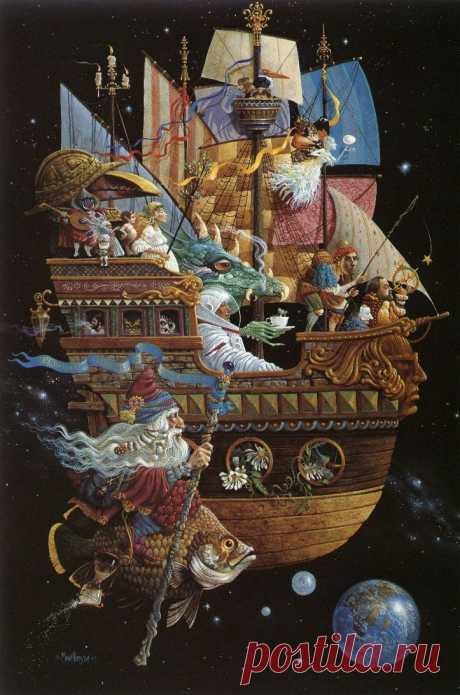 Волшебные иллюстрации Джеймса Кристенсена, картины, биография художника Когда видишь его картины, так сразу и хочется сесть в сотый раз перечитывать Нарнию и Хоббита. Именно о книгах с такими иллюстрациями, я думаю, мечтает каждый ребенок.
