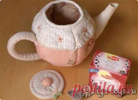 Объемный текстильный чайник: мастер-класс.