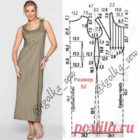 Выкройка летнего платья из льна