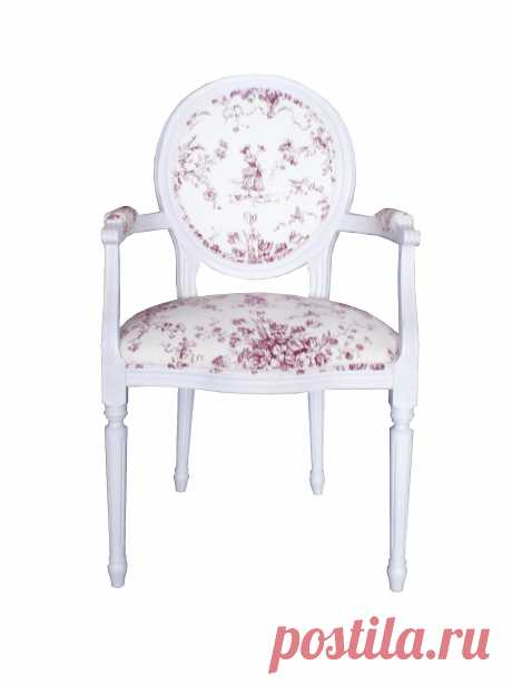 LN36 Стул - кресло с подлокотниками ткань Пастушка мебель прованс | Уголок Прованса +7 (499) 390-04-39