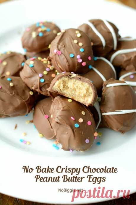 Нет Выпекать Хрустящий Шоколад Арахисовое Масло Яйца   NoBiggie