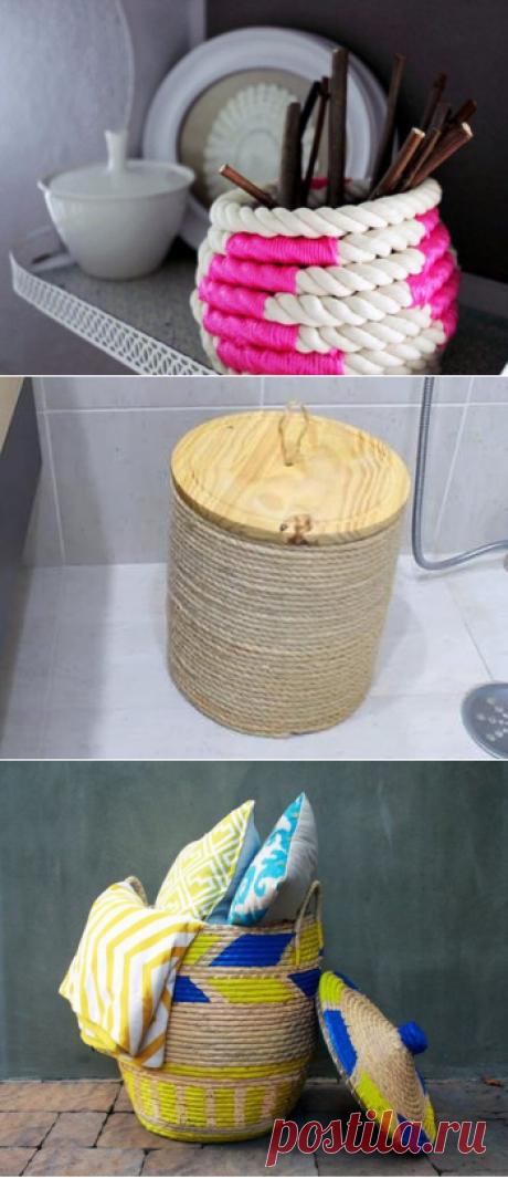 Корзины - оригинальное решение для хранения в каждой комнате