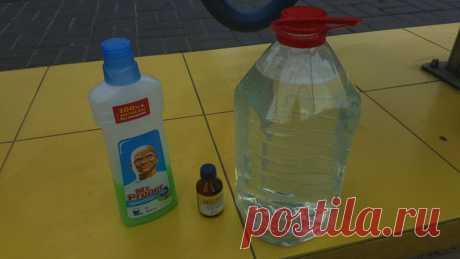 Эффективная летняя омывающая жидкость своими руками за 10 рублей/5 литров