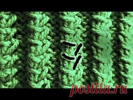 Узор-''Тонкие ассиметричные косички''. | Вязание для женщин спицами. Схемы вязания спицами