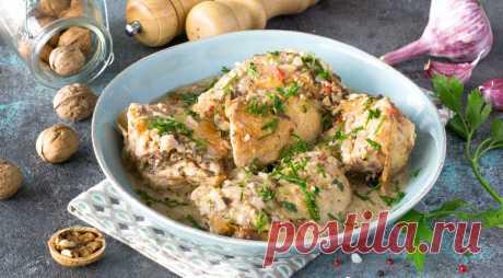 Сациви из домашней курицы, пошаговый рецепт с фото