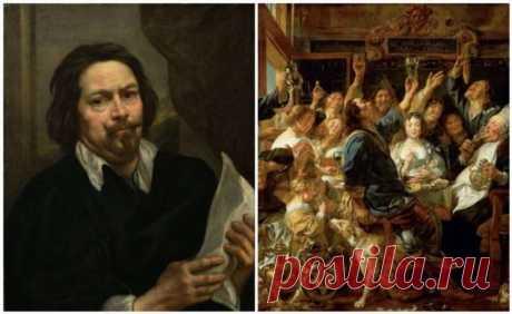 Непревзойденный мастер изображения семейных торжеств и застолий: фламандский художник Якоб Йорданс . Тут забавно !!!