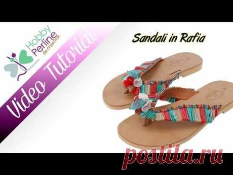 Sandali in Rafia | TUTORIAL - HobbyPerline.com