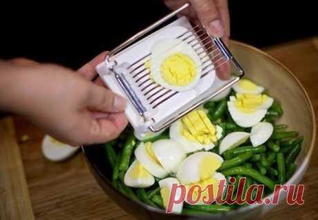 Салат из зеленой фасоли - Приготовкино