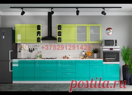 Кухня модульная Мокко (лайм глянец/бирюза металлик): купить в Минске недорого, низкие цены, скидки, рассрочка