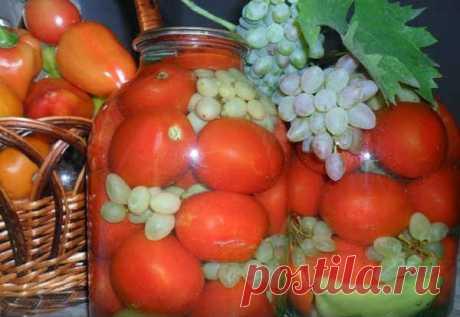 Помидоры с Виноградом на Зиму (3 Лучших Рецепта)