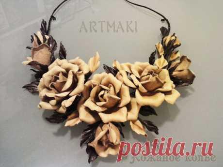 Кожаные цветы- создание цветов из кожи своими руками в студии Артмаки