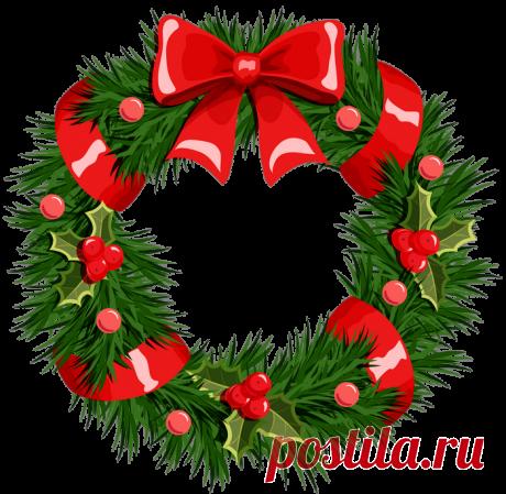 Клипарт Рождественский венок.
