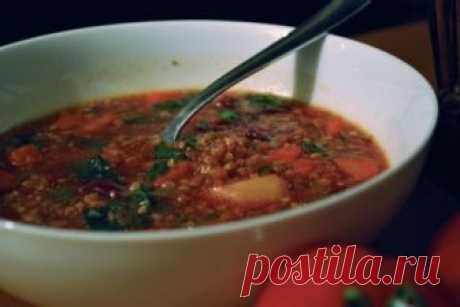 Meatless soup from buckwheat \/ Vegetable soups \/ TVCook: step-by-step recipes with a photo
