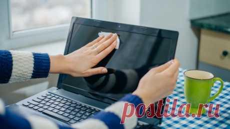 Как правильно почистить экран ноутбука