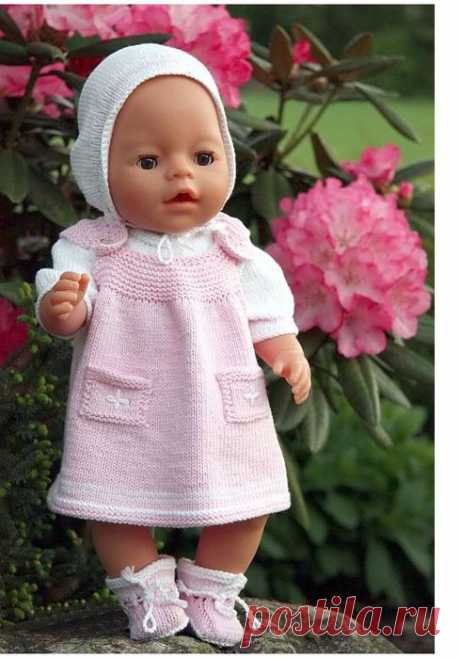 Вязание для кукол беби бон схема