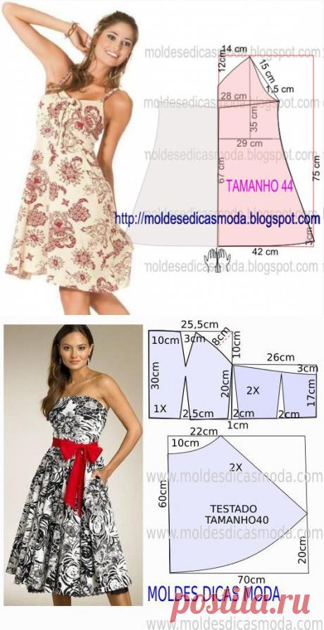 Выкройки летних платьев (Шитье и крой) | Журнал Вдохновение Рукодельницы