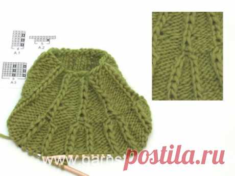 How to knit in stitch below and how to increase 4 stitches in 1 stitch (Tutorial Video) In this DROPS video we show how to knit 1 stitch below next stitch and how to increase 4 stitches in 1 stitch. These charts are taken from DROPS 201-40, but the...