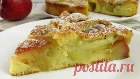 Очень простой и вкусный итальянский яблочный пирог. Ароматный и нежный!