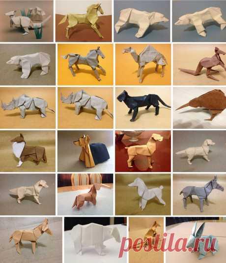 Четвероногое оригами.