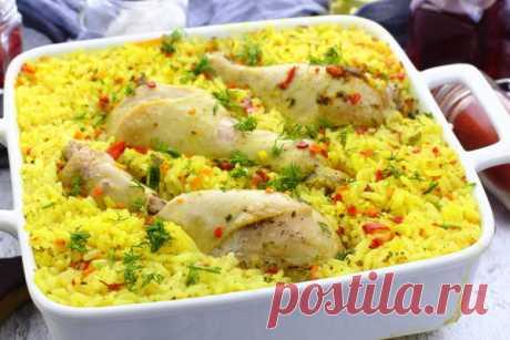 Ленивый плов с курицей — Sloosh – кулинарные рецепты