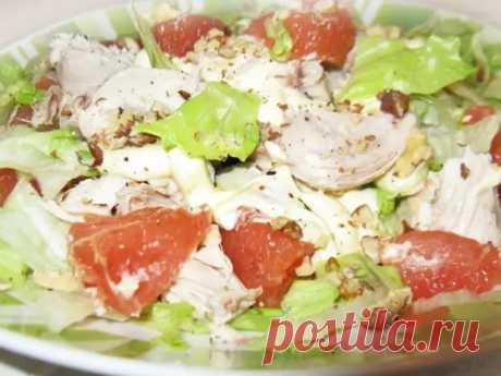 Новогодний салат из курицы с грейпфрутом - БУДЕТ ВКУСНО! - медиаплатформа МирТесен