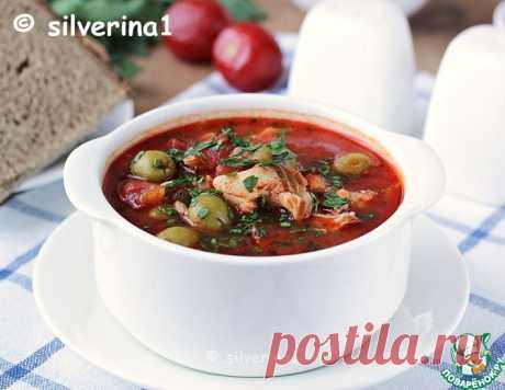 Томатный суп с рыбой и оливками – кулинарный рецепт