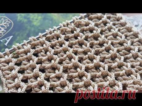 Вяжем рельефный узор спицами из пряжи Macrame 🍂 knitting pattern.