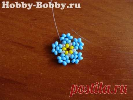 Маленький цветок из бисера - Схемы и МК - Бисер - Хобби-Бобби.ру мастер-классы по рукоделию