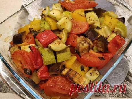 Запечённые овощи в духовке. Лёгкий и вкусный рецепт. | Iriska | Яндекс Дзен