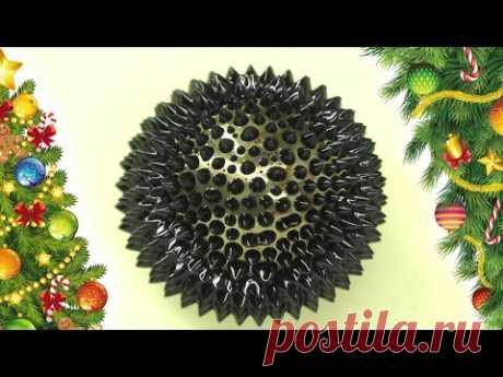 С Новым Годом! Кому ёлочек из ферромагнитной жидкости. Жидкий магнит. Amazing ferrofluid experiment. Magnetic Fluid Experiment. Magnetic Liquid. Satisfaction...