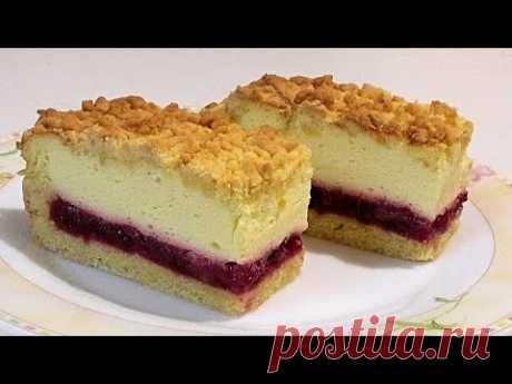 Много начинки-мало теста.ВИШНЁВЫЙ заливной пирог/Cherry Jellied Pie