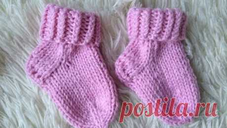 Вязание спицами. Детские носочки