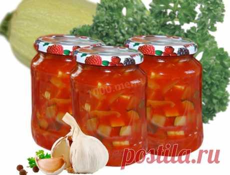 Кабачки без стерилизации с кетчупом рецепт с фото - 1000.menu