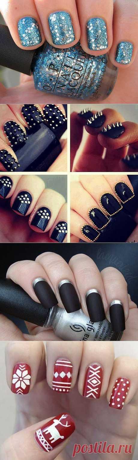 Идеи новогоднего маникюра / рисунки на ногтях | Блог о рукоделии и моде