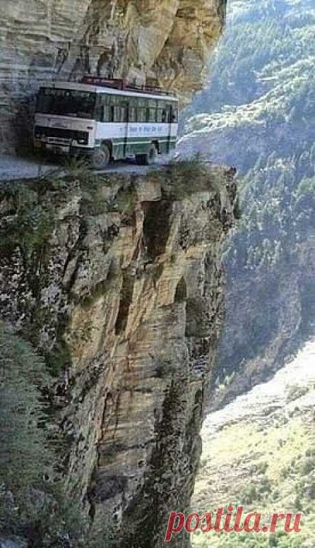 The guide in the bus speaks: \u000d\u000a- Admire what beauty around! Really seized hand-rail with the glazed-over eyes?