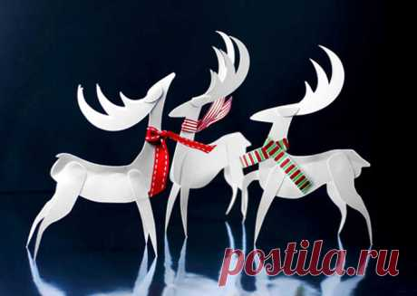 Paper Reindeer Christmas Ornament Paper Craft - Easy Paper Crafts