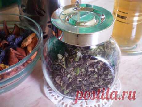 Ферментированный чай из зелени и трав (фото-инструкция).