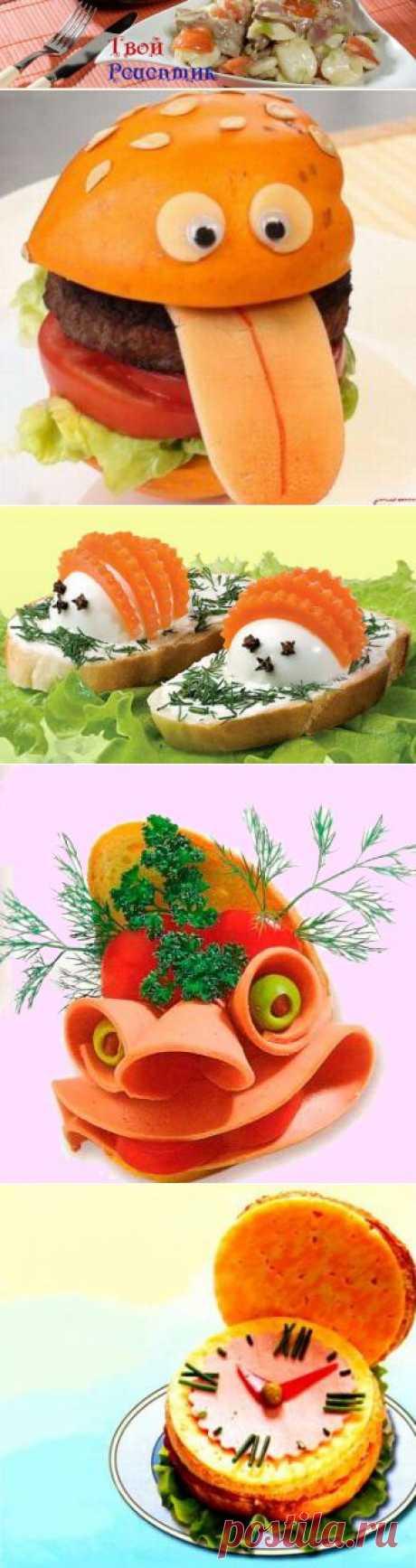 Как оформить бутерброд,фотографии оформления бутербродов как на праздничный стол,так и на каждый день