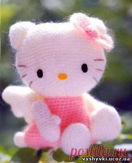 Амигуруми «Hello Kitty-ангел» - Амигуруми схемы вязания - ВЯЗАНИЕ СПИЦАМИ, КРЮЧКОМ - Бесплатные схемы вышивки крестиком