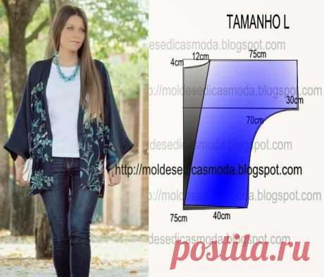 Простые выкройки: блуза-накидка и жакет-кимоно