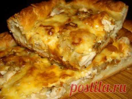 Пирог с курицей и сыром | Рецепты счастья