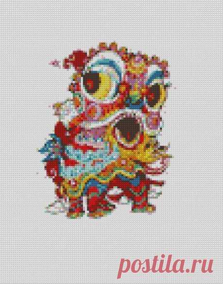 Mandala Dragon Cross Stitch Pattern Modern PDF Cross Stitch | Etsy