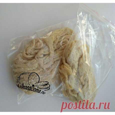 Купить череву свиную для колбасы калибр 34/36
